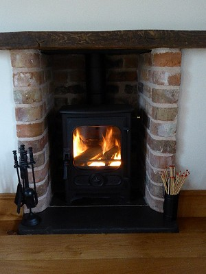 Cheese Room Cottage Log Burner